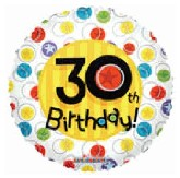 "18"" Happy 30th Bithday Balloon"
