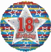 "18"" Happy 18th Birthday Many Stars"