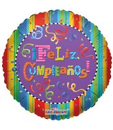 "18"" Feliz Cumpleanos Festive Balloon"