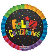 "18"" Jazzy Colors Feliz Cumpleanos"