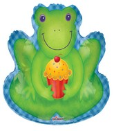 """28"""" Frog With Cupcake"""