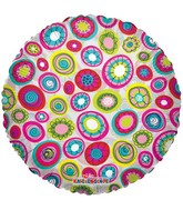 "18"" Decorative Bright Circles Balloon"