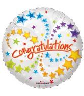 "18"" Congratulations Many Stars Round"