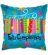"18"" Feliz Cumpleanos Candles & Textures"