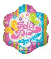 "9"" Feliz Dia Butterflies Mylar Balloon"
