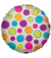 "18"" Decorative Circles Mylar Balloon"