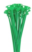 "13"" One Piece Cup and Stick-Green"