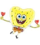 """30"""" Sponge Bob Hearts"""
