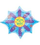 "35"" You're the Best Starburst Balloon"