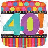 """18"""" Birthday Dots and Stripes 40"""
