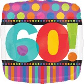 18'' 60th Birthday Stripes