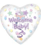 Jumbo Welcome Baby Dangler Balloon