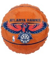 "18"" NBA Atlanta Hawks Basketball Balloon"