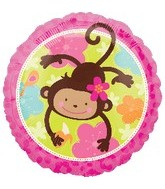 "18"" Monkey Love Balloon"