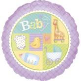 "18"" Pastel Patchwork Baby Balloon"