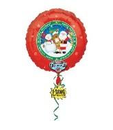 "28"" Happy Holidays Singing Balloon"