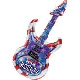 """41"""" USA Rocks Guitar Shape Mylar Balloon"""