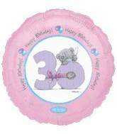 "18"" Happy Birthday 30th Bear"