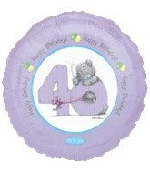 "18"" Happy Birthday 40th Bear"