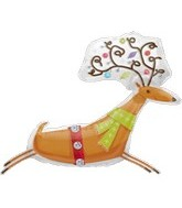 "35"" See Through Reindeer Christmas Decoration"