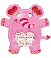 "28"" See-Thru Tons of Love Elephant Balloon"