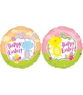 """18"""" Chick and Bunny Happy Easter"""