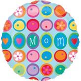 "18"" Mom Circles Mylar Balloons"