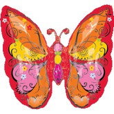 "25"" Red Whim Garden Butterfly Balloon"