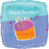 "32"" Jumbo Birthday Balloon with Cake"