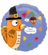 "18"" Happy Thanksgiving Turkey Acorn"