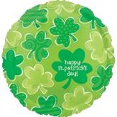 """18"""" Happy St. Patricks Day  Shamrocks"""