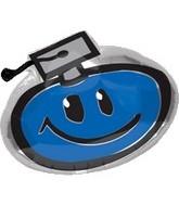 "18"" Smiling Graduation Blue"