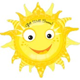 "29"" Get Well Soon Smiley Sun Balloon"