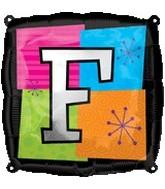 """18"""" Foil Mylar Balloon Letters F"""