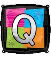 "18"" Foil Mylar Balloon Letters Q"