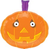 "23"" Eye Popper Pumpkin Balloon"