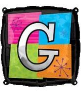 "18"" Foil Mylar Balloon Letters G"