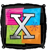 "18"" Foil Mylar Balloon Letters X"