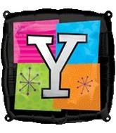 """18"""" Foil Mylar Balloon Letters Y"""