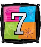 "18"" Foil Mylar Balloon Number # 7"