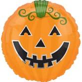 "18"" Smiley Pumpkin Jack-o-Lantern"