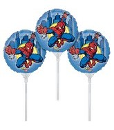 """9"""" EZ Fill Airfill Spiderman With Sticks (3 Pack)"""