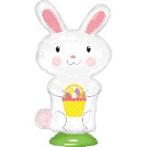 """15"""" EZ Fill Stand Up Bunny Balloon Airfill Only"""