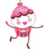 "38"" SuperShape Valentine Cupcake Balloon"