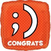 """18"""" Texting Congrats ;) Balloon"""