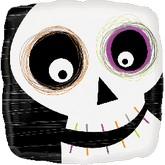 """18"""" Friendly Halloween Skull Mylar Balloon"""