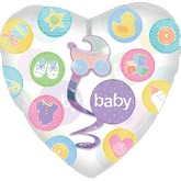 "32"" SuperShape Insider Dangler New Baby Balloon"