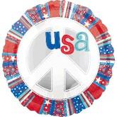 """18"""" USA Peace sign Balloon"""