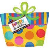 "23"" Big Dots Birthday Present SuperShape"