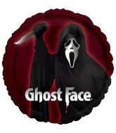 Ghost Face Mylar Balloons